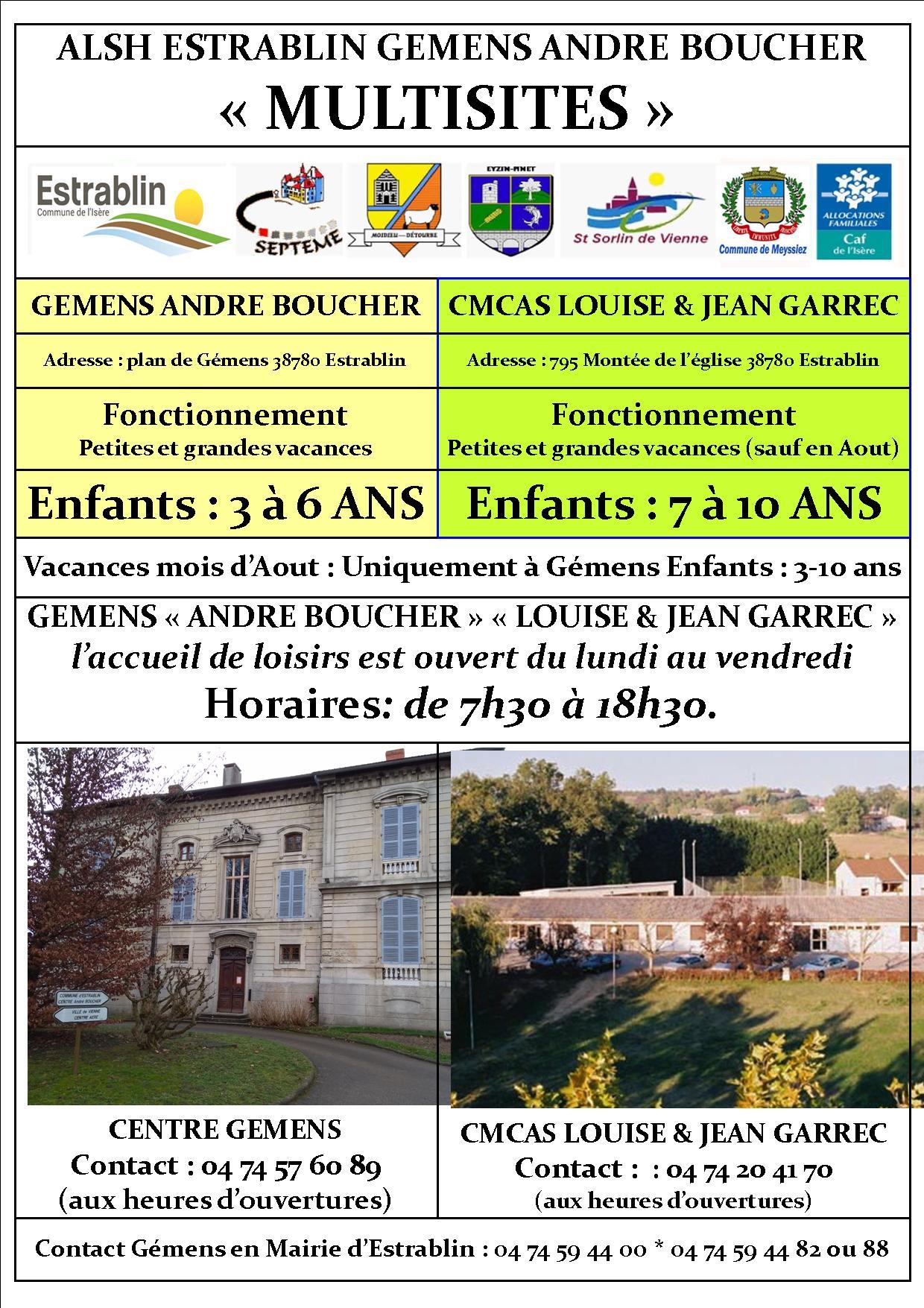 INFOS site Gémens 2019