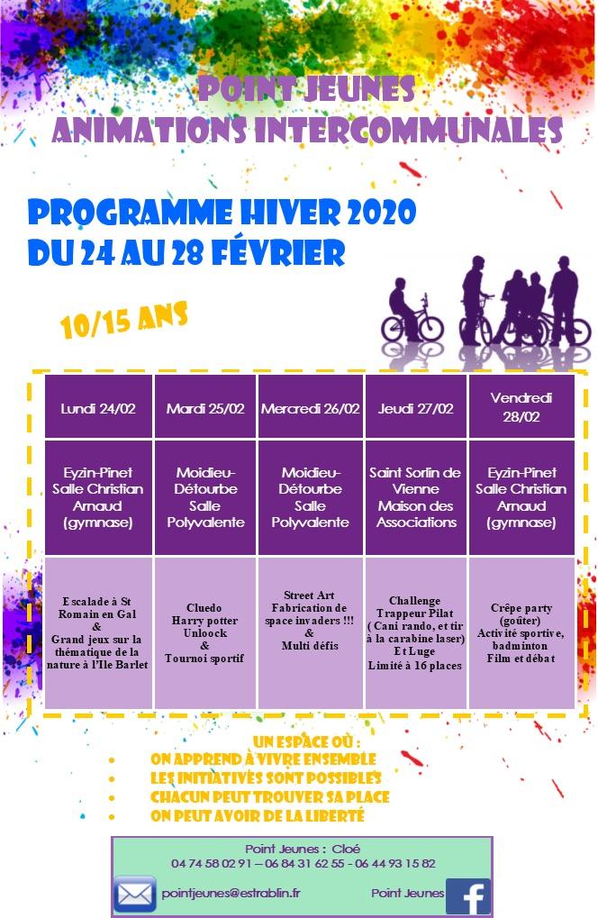 Anim déconcentrées Vacances Hiver 2020
