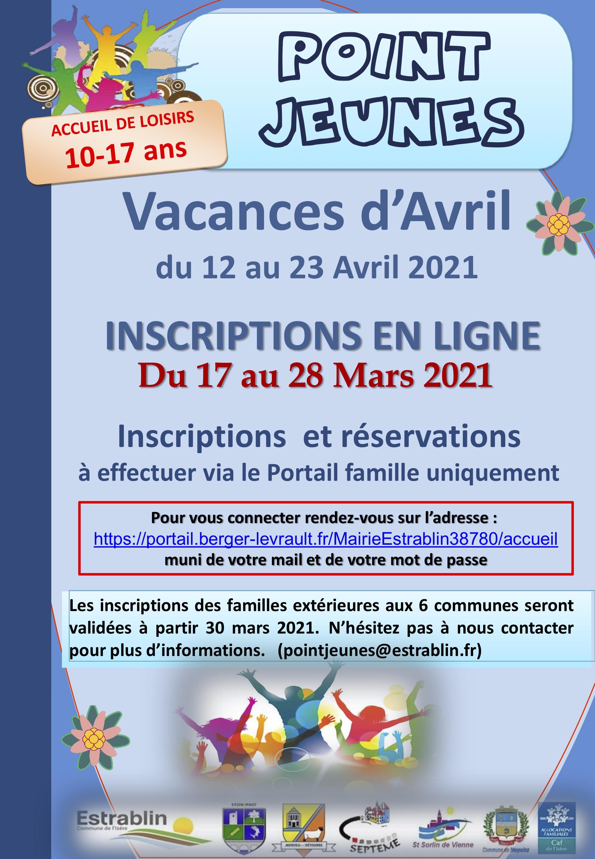 Guide Infos Parents Point Jeunes Vacances Printemps 2021