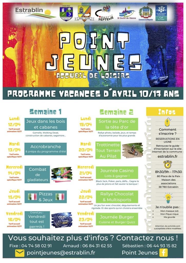 Programme PJ Avril 2021