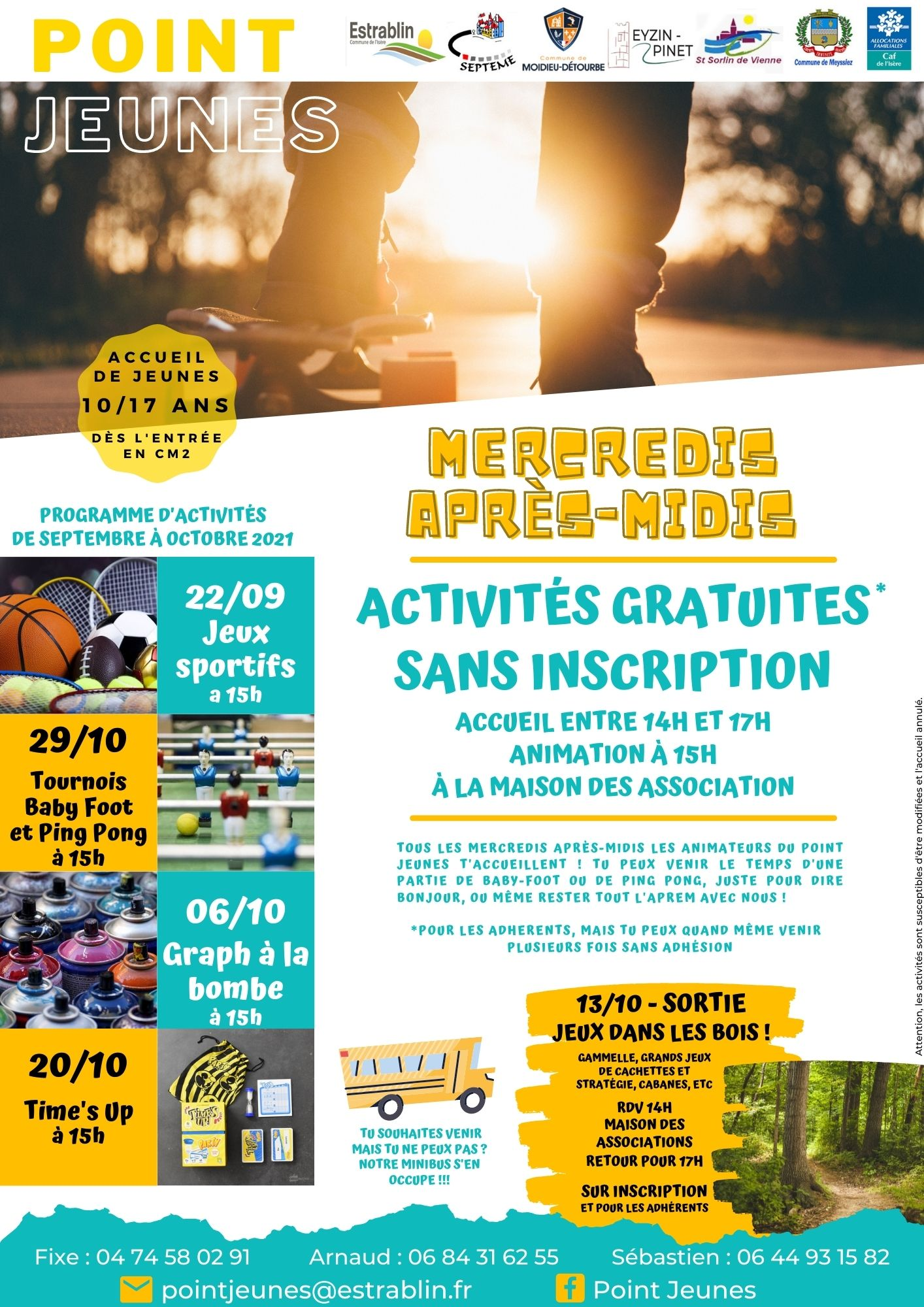 Programme MERCREDIS SEPTEMBRE 2021
