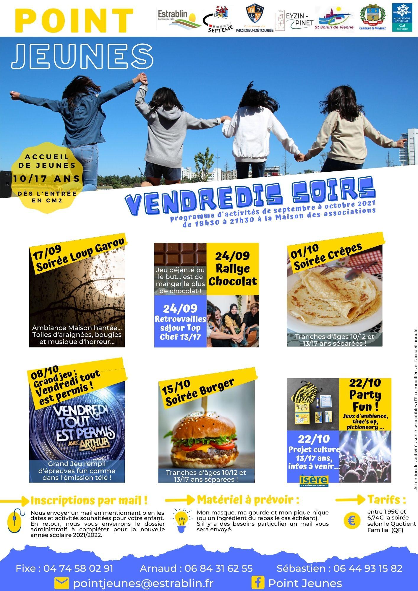 Programme VENDREDI SEPTEMBRE 2021